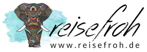Logo reisefroh, Reiseblog